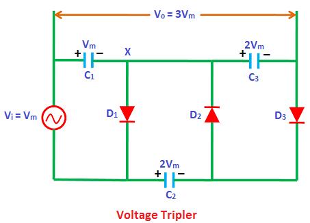 Marvelous Voltage Multiplier Voltage Doubler Voltage Tripler Voltage Wiring Cloud Faunaidewilluminateatxorg