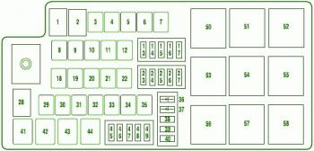 Hy 5767 2008 Ford Fusion Relay And Fuse Box Diagram Download Diagram