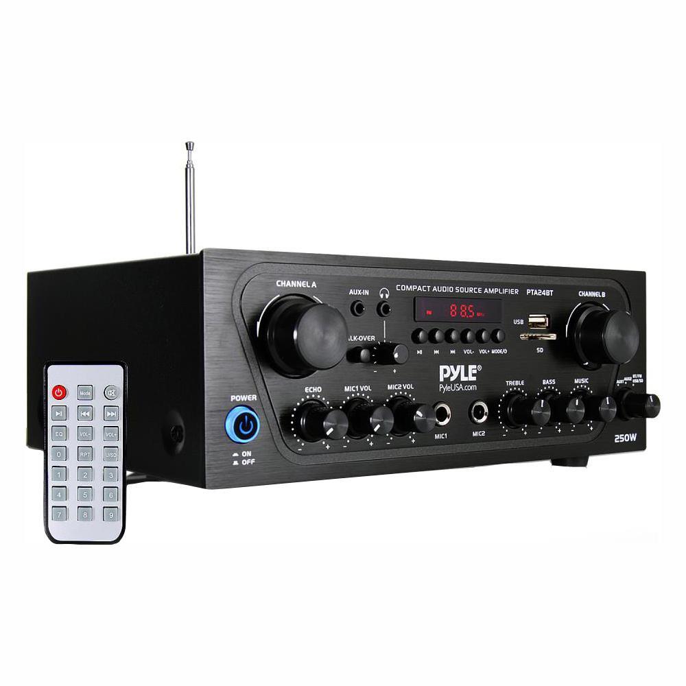 Awe Inspiring Pyle Bluetooth Home Audio Source Amplifier Pta24Bt The Home Depot Wiring Cloud Licukosporaidewilluminateatxorg