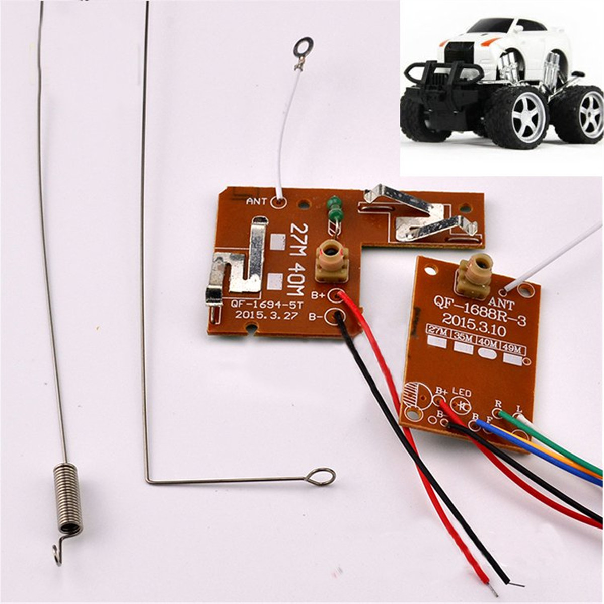 Admirable 4Ch 27Mhz Remote Control Circuit Pcb Transmitter Toy Car Antenna Wiring Cloud Waroletkolfr09Org