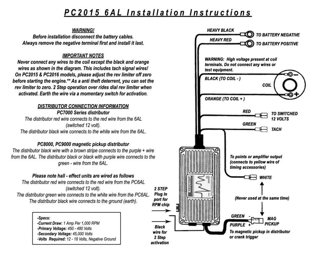 Hl 2608  Pro Comp Ignition Box Wiring Diagram Wiring Diagram