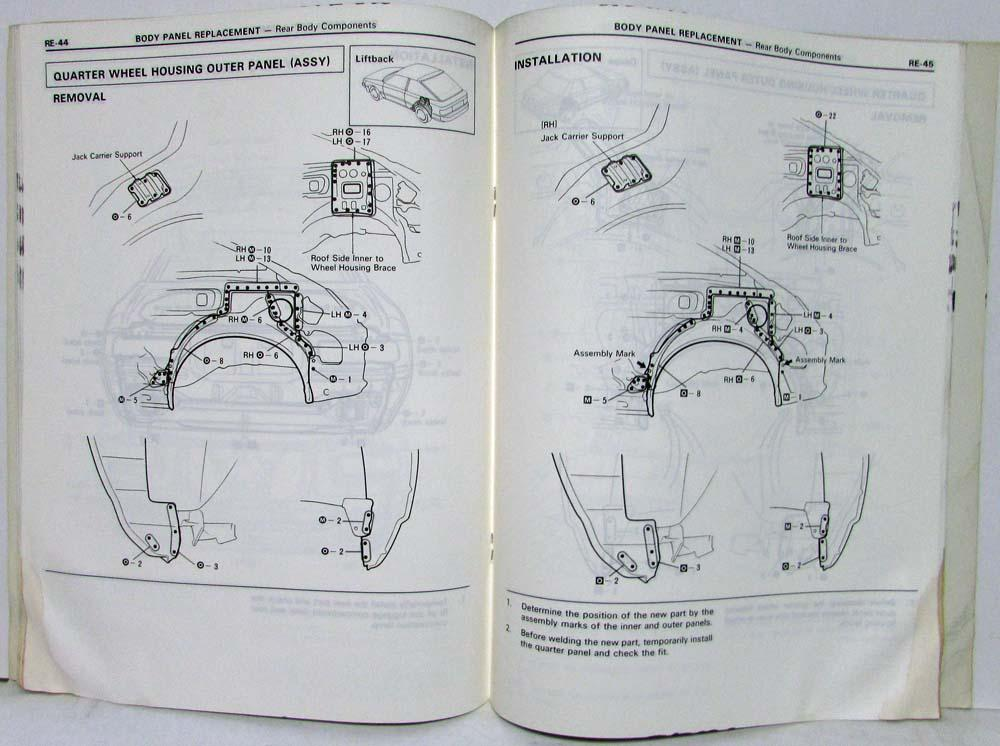 Swell 1985 Toyota Celica Service Shop Repair Manual For Collision Damage Wiring Cloud Mousmenurrecoveryedborg