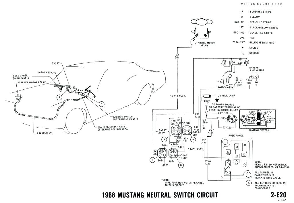 1968 mustang starter relay wiring diagram  fuel filter 2005