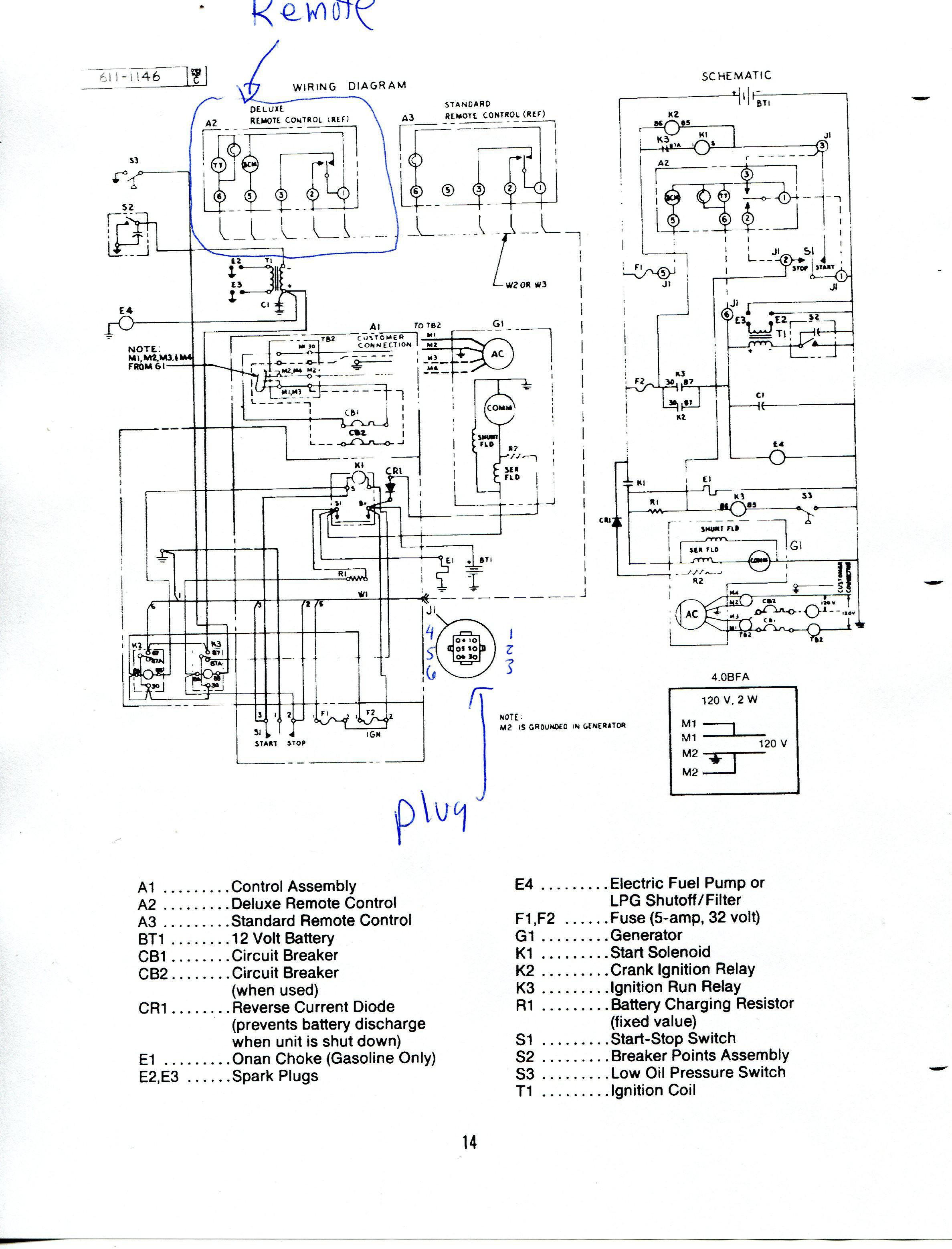 Rv Onan Generator Wiring Diagram