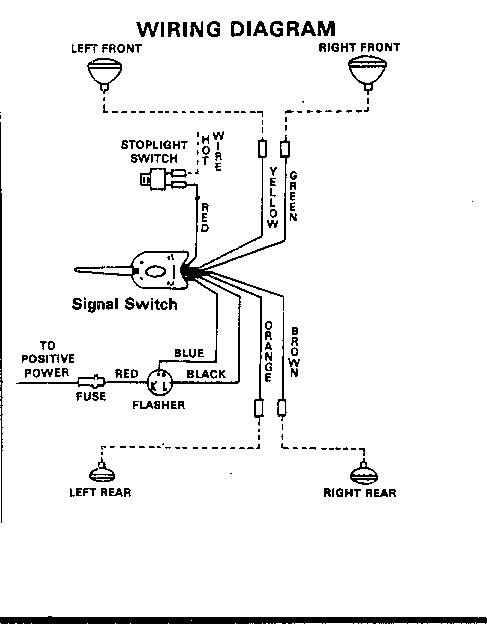 An 8061  Turn Signal Switch Wiring Schematics Free Diagram