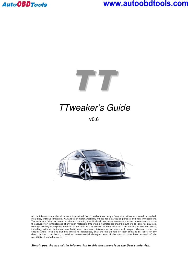 Awesome Audi Tt Tweaker User Guide Manual Wiring Cloud Intelaidewilluminateatxorg
