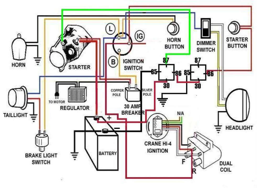 harley davidson shovelhead wiring diagram  honda 20 hp