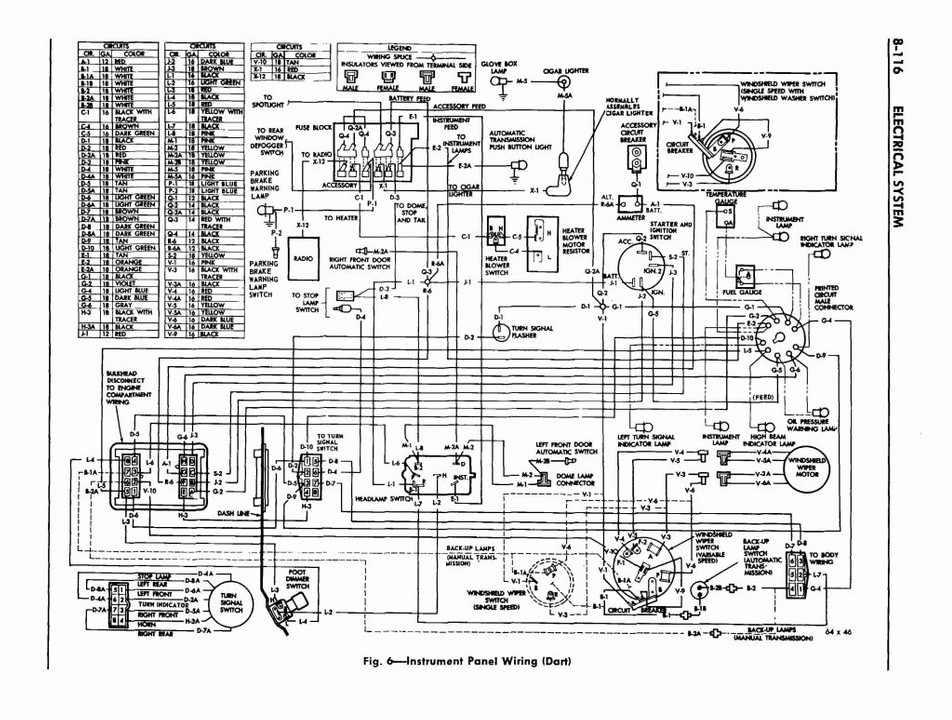 1971 Dodge Dart Wiring Diagram Collection