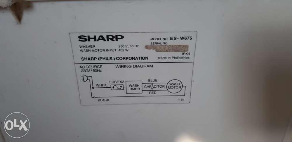 Phenomenal Sharp Washing Machine Wiring Diagram Wiring Diagram B7 Wiring Cloud Domeilariaidewilluminateatxorg