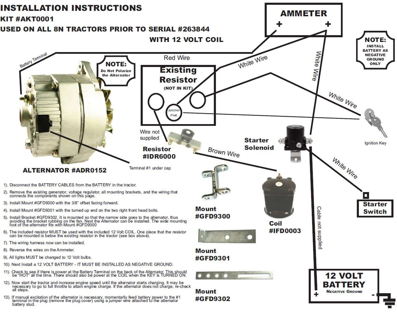 Ym 1867 Manual Wiring Diagram Shows All Three Wires Going Into The Altenator Free Diagram