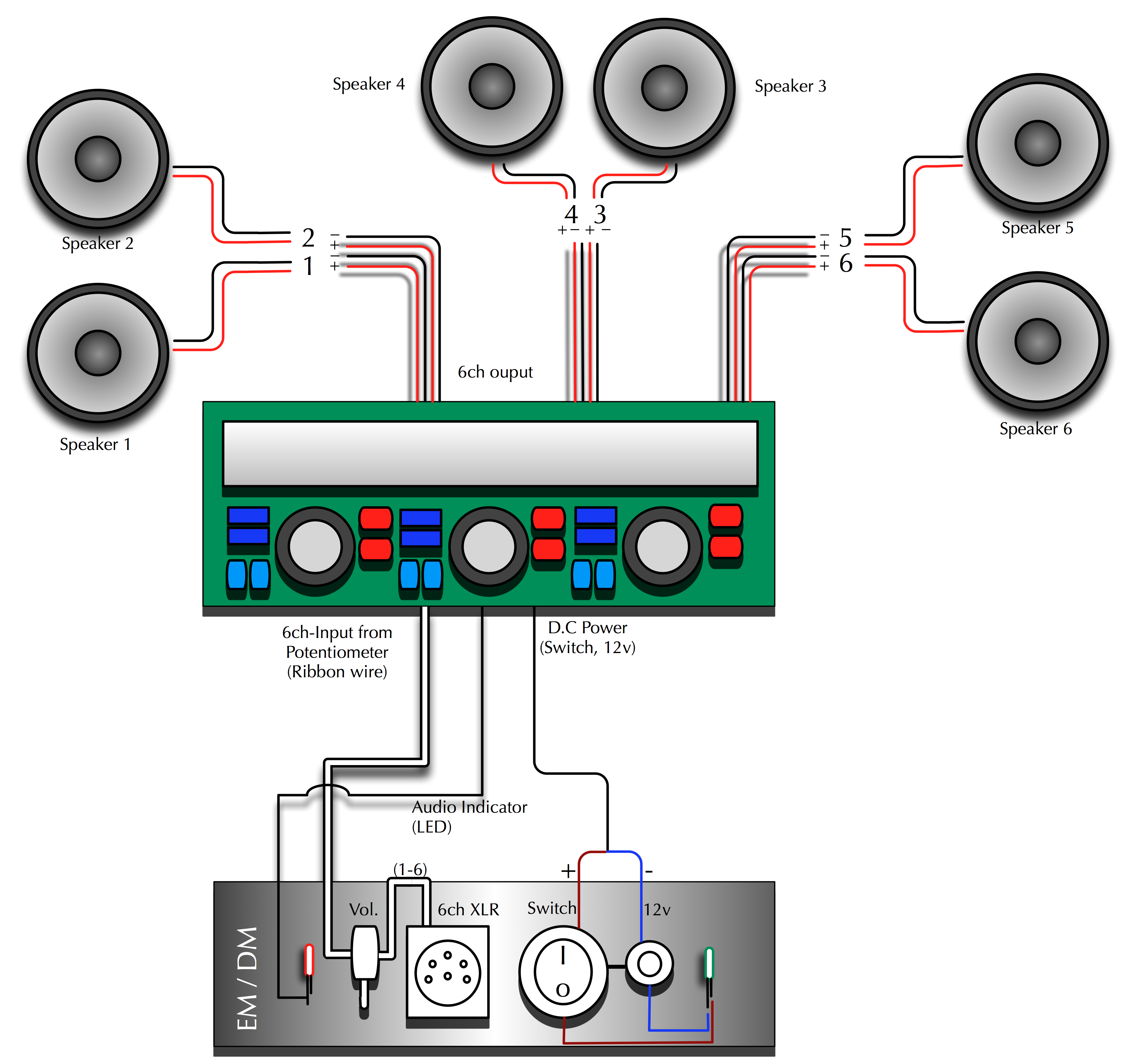 Wiring Diagram 4 Channel Car Amp