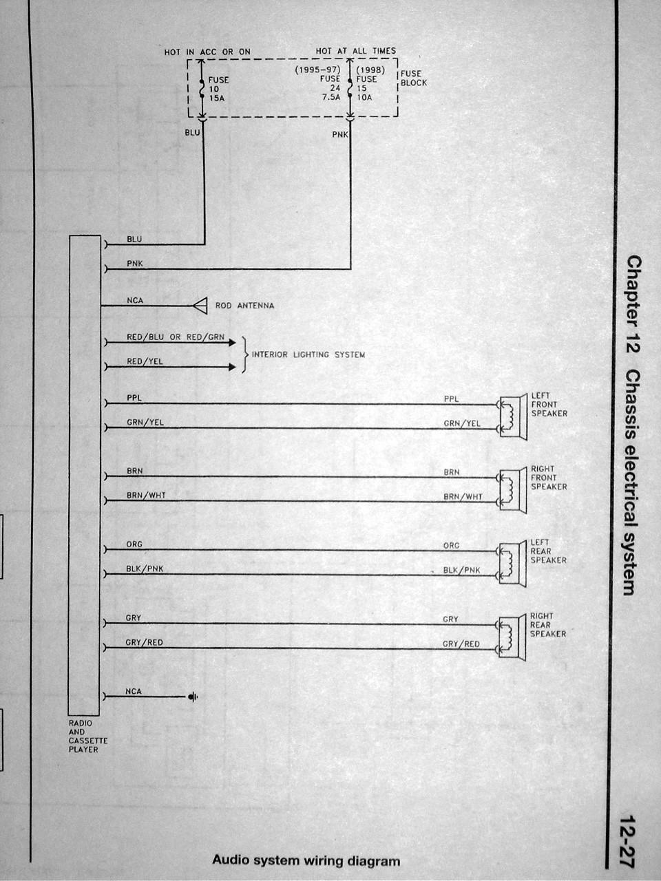 2001 Nissan Frontier Speaker Wiring Diagram