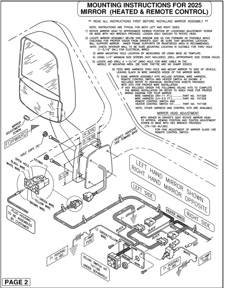 Velvac Mirror Wiring Diagram Winnebago - Wiring Diagramsleboisenchante.fr