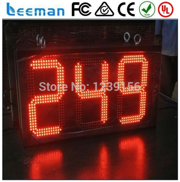 Terrific Big Outdoor Waterproof Red Led Counter Clock Muti Functional Wiring Cloud Mousmenurrecoveryedborg