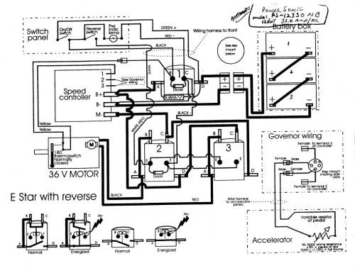 Ez Go Electric Golf Cart Wiring Diagram   Diagram Ezgo Gas