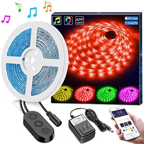 Stupendous Amazon Com Led Strip Lights Music Sync Phone Controlled Minger Wiring Cloud Loplapiotaidewilluminateatxorg