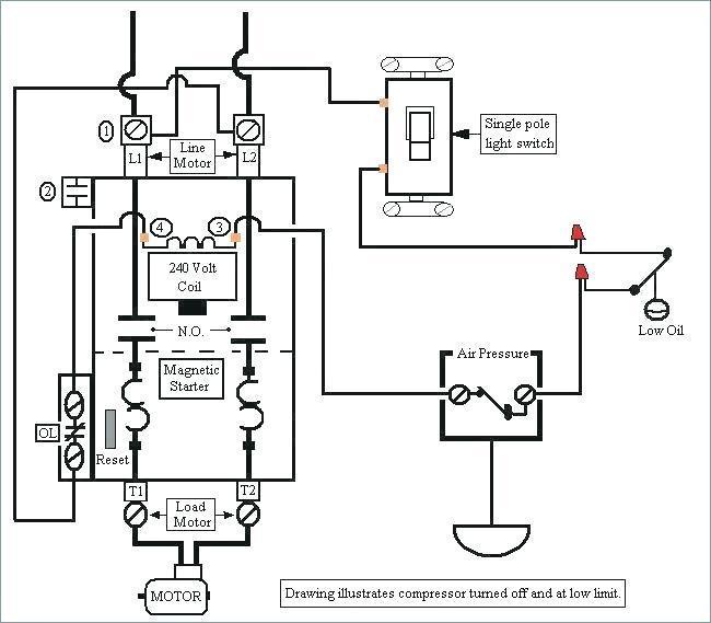240 Volt Wiring Diagram Air Compressor