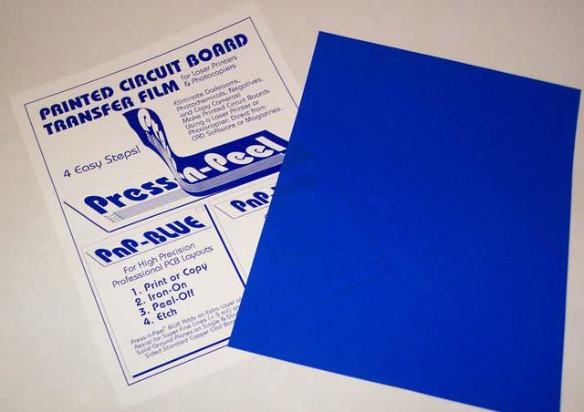 Press-n-Peel Blue PCB Transfer Paper Film Etch Circuit Boards Jewelry Sheet