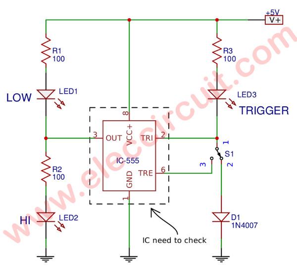 Awesome Simple 555 Ic Tester Circuit Diagram Eleccircuit Com Wiring Cloud Ittabpendurdonanfuldomelitekicepsianuembamohammedshrineorg