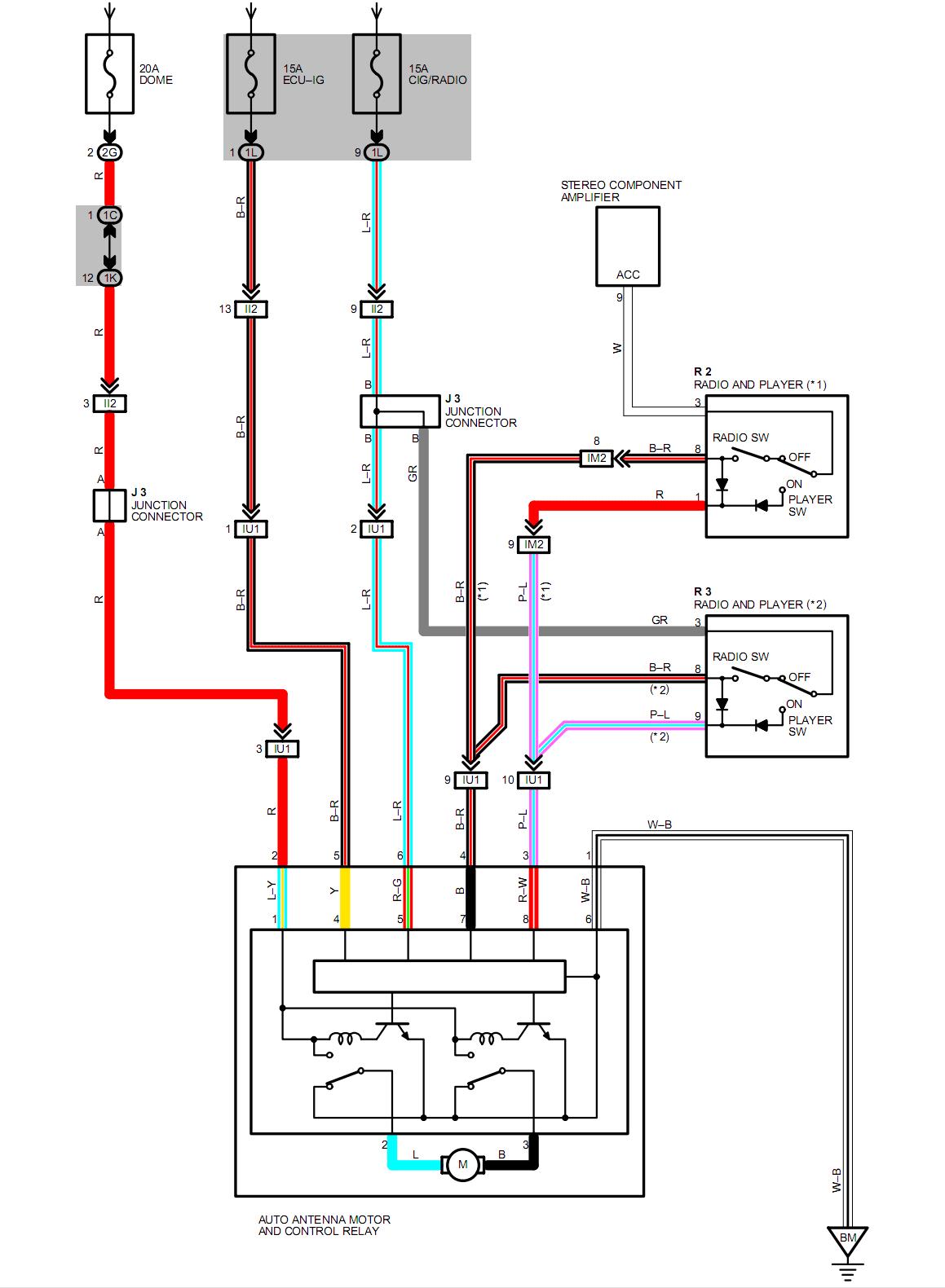 Wondrous Wiring Diagram For Power Antenna Basic Electronics Wiring Diagram Wiring Cloud Rineaidewilluminateatxorg