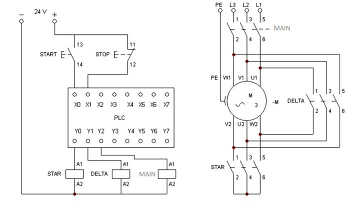 lh0095 star delta wiring diagram on star delta motor