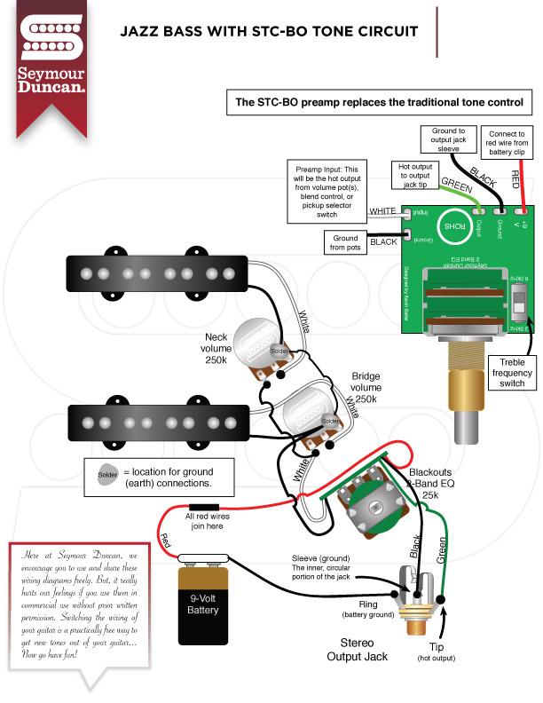 Seymour Duncan Wiring Diagram Bass