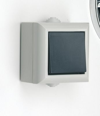 1 GANG 2 WAY WALL LIGHT SWITCH EXTERNAL GARDEN WATERPROOF OUTDOOR IP54 RATED