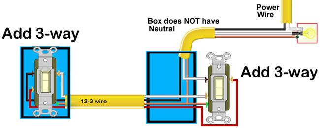 3 Way Switch No Neutral Schematic Wiring