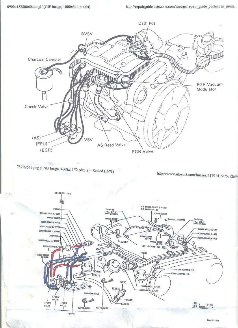 1994 toyota engine wiring diagram dx 7117  1992 toyota pickup 22re cooling system diagrams on 91  1992 toyota pickup 22re cooling system
