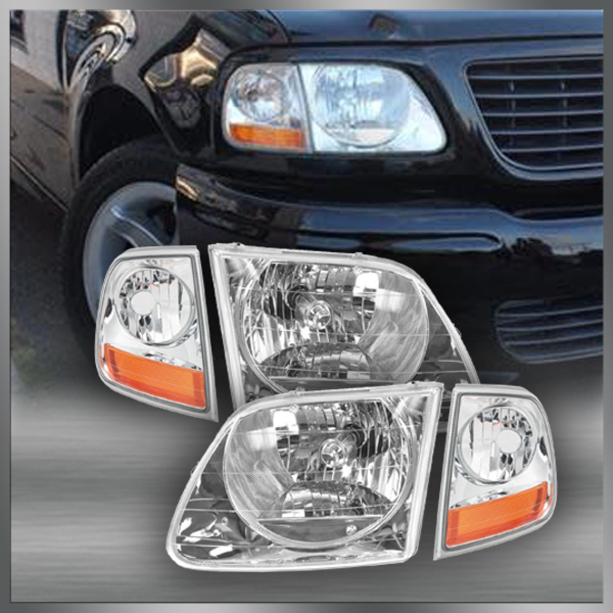 Brilliant Lightning Style Headlights Corner Parking Lights Kit Set For F150 Wiring Cloud Ostrrenstrafr09Org