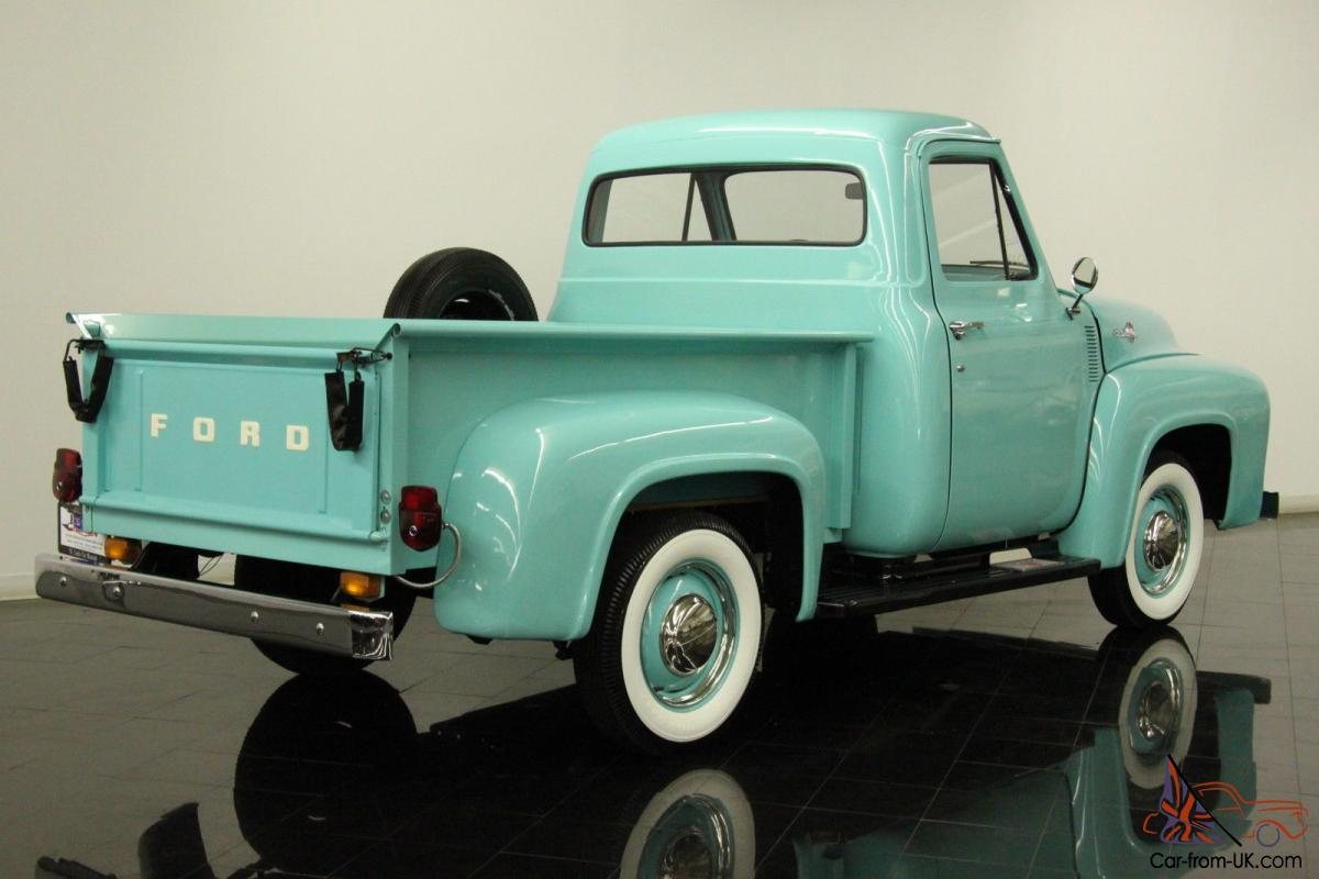 Wondrous 1955 Ford F100 Pickup 223Ci 6 Cylinder 3 Speed Restored Chrome Bumpers Wiring Cloud Eachirenstrafr09Org