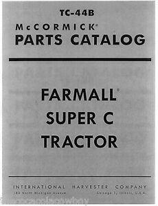 Outstanding Farmall Super C Tractor Parts Catalog Manual Mccormick International Wiring Cloud Timewinrebemohammedshrineorg
