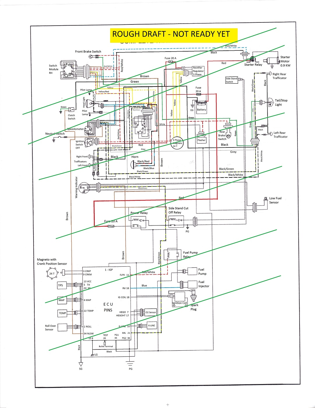 Royal Enfield Classic 350 Electrical Wiring Diagram ...