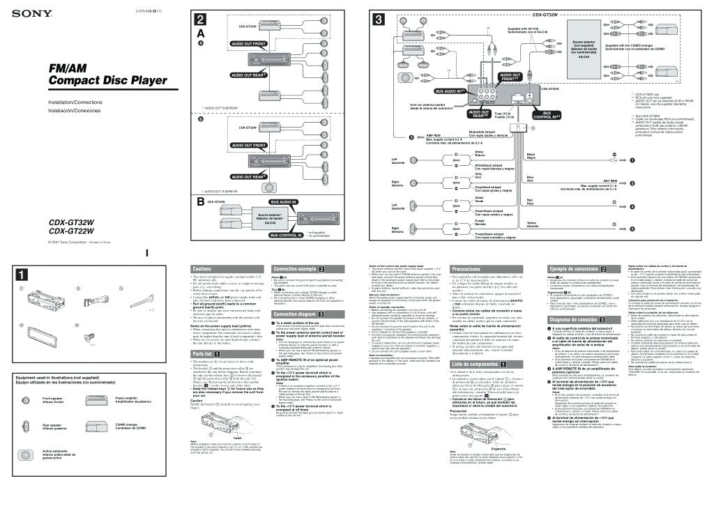 Sony Xplod Stereo Wiring Diagram - Collection