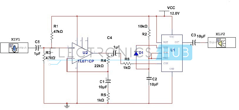 Incredible 555 Timer As An Amplifier Low Power Audio Amplifier Using 555 Timer Wiring Cloud Onicaxeromohammedshrineorg