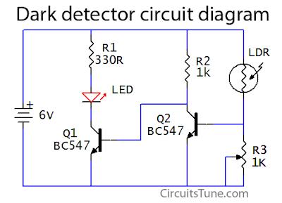 Tremendous Dark Detector Circuit Using Ldr Led Circuitstune Wiring Cloud Rometaidewilluminateatxorg