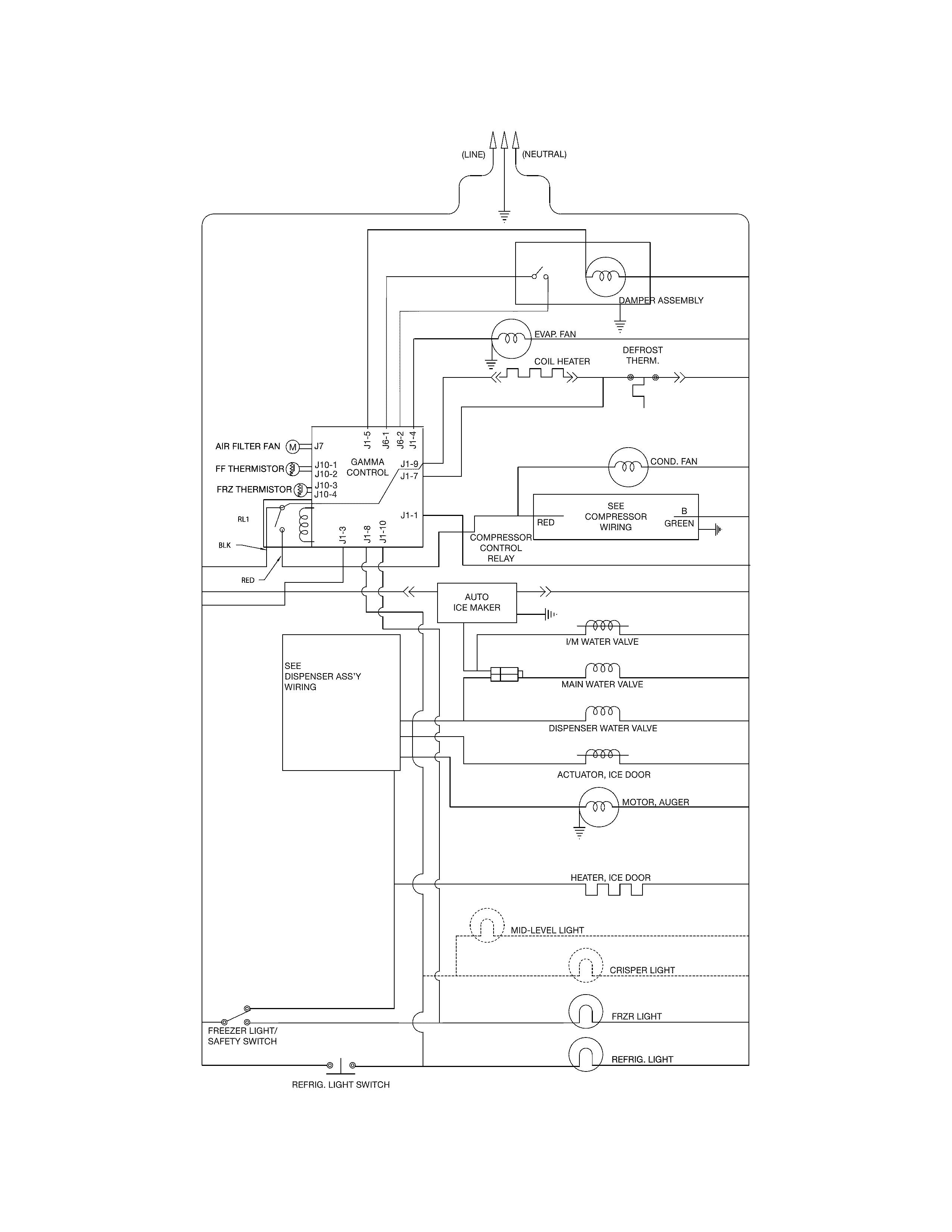 Swell Frigidaire Wiring Diagram Refrigerator Wiring Diagram B7 Wiring Cloud Timewinrebemohammedshrineorg