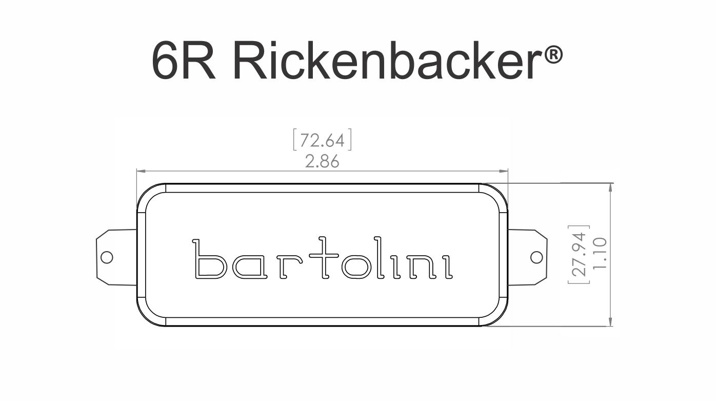 Prime Bartolini 6Rc 6Rt Rickenbacker Pickup Set Best Bass Gear Wiring Cloud Hemtshollocom