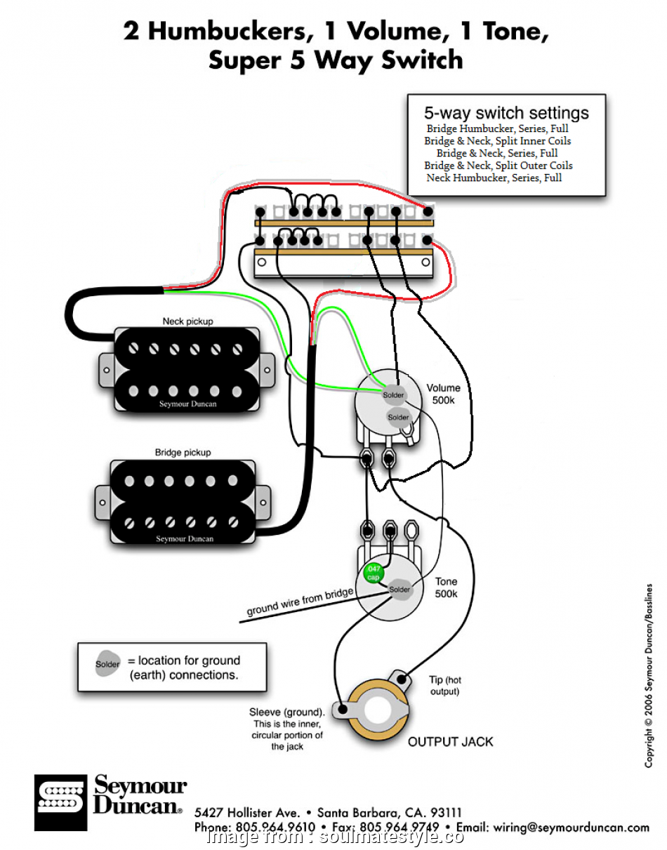 Seymour Duncan Hot Rodded Humbucker Set Wiring Diagram
