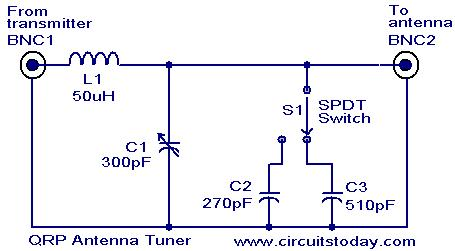 Superb Qrp Antenna Tuner Circuit Electronic Circuits And Diagrams Wiring Cloud Hemtegremohammedshrineorg