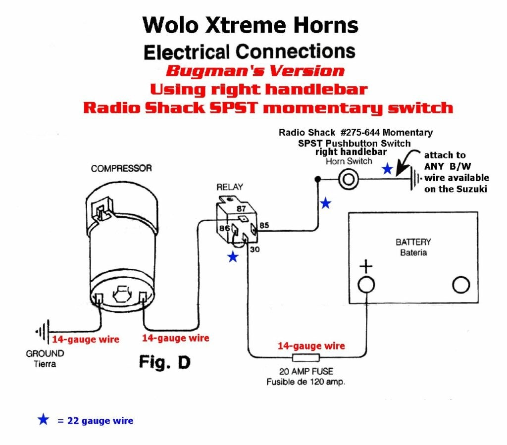Car Air Horn Wiring Diagram Kia Sephia Fuse Box For Wiring Diagram Schematics