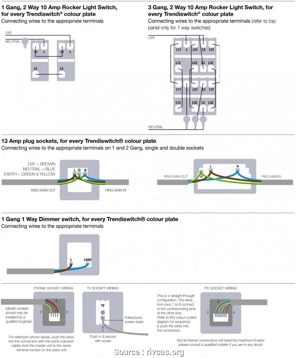 Crabtree 2 Gang Light Switch Wiring Diagram