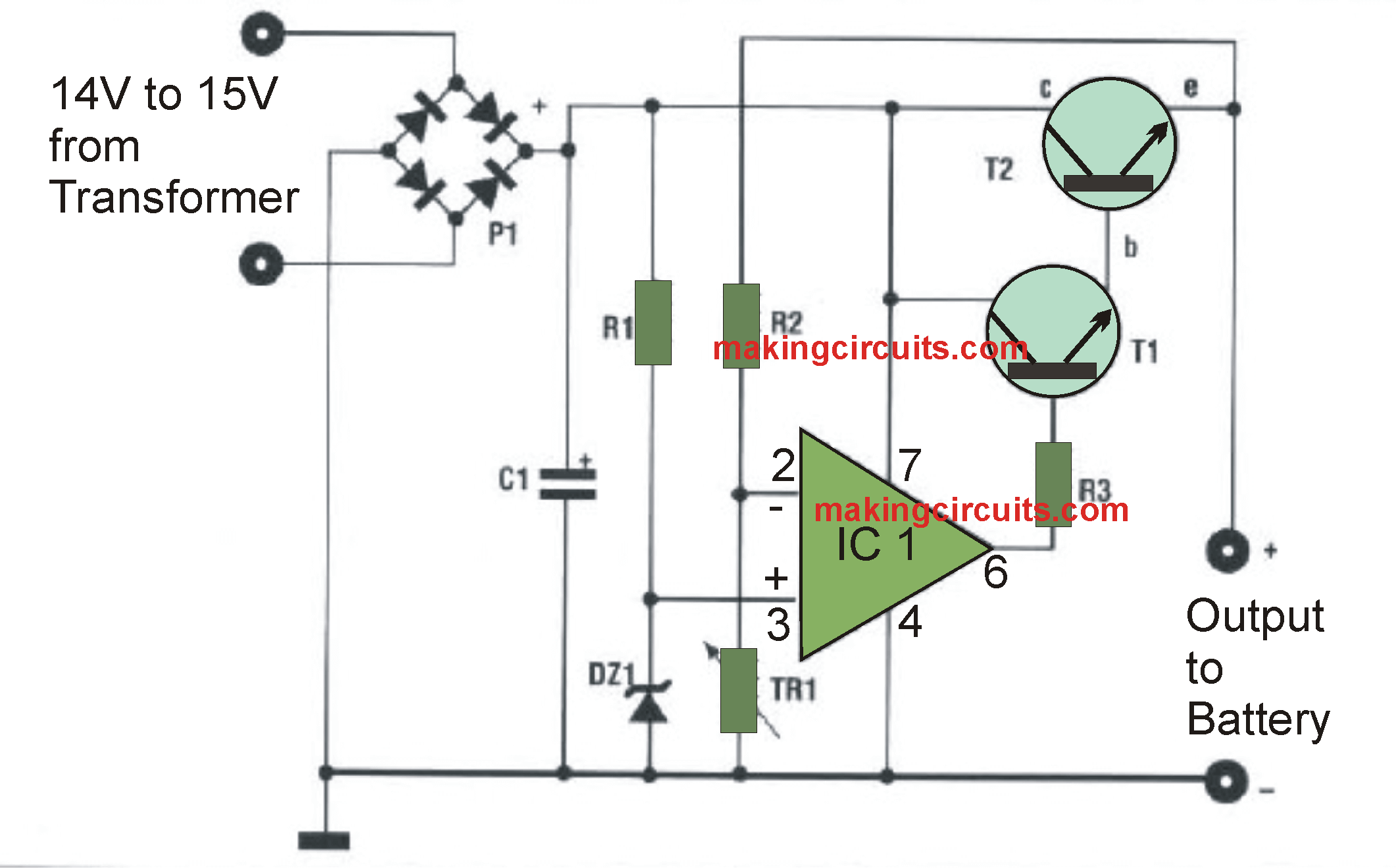 Enjoyable Automatic 12V Battery Charger Circuit Batteries In 2019 Wiring Cloud Inklaidewilluminateatxorg