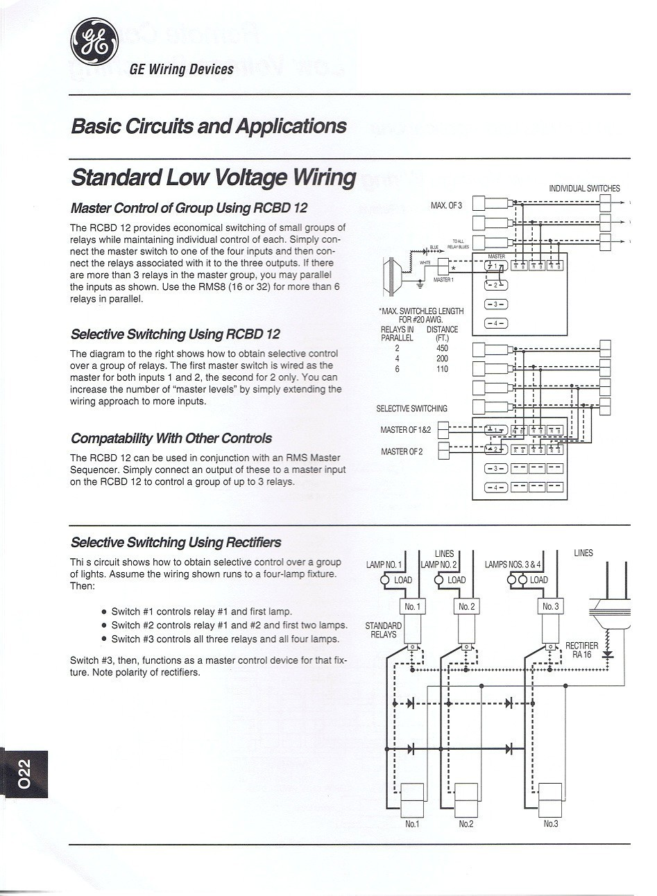 Ge Low Voltage Relay Wiring Diagram