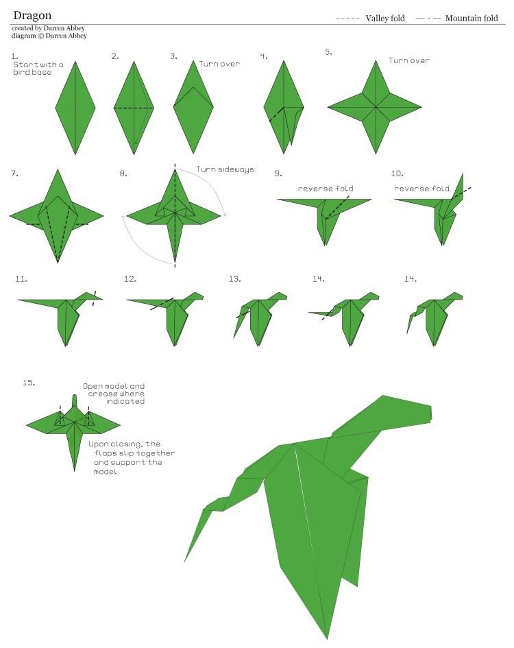 How to Make an Origami Dragon (with Pictures) - wikiHow | 945x750