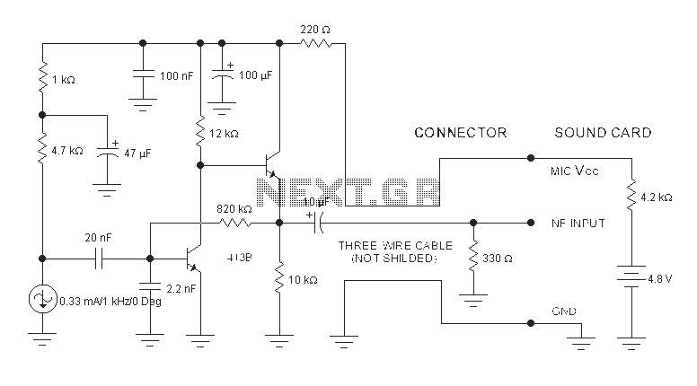 Mb 5256  Microphone Circuits Audio Schematics Download Diagram
