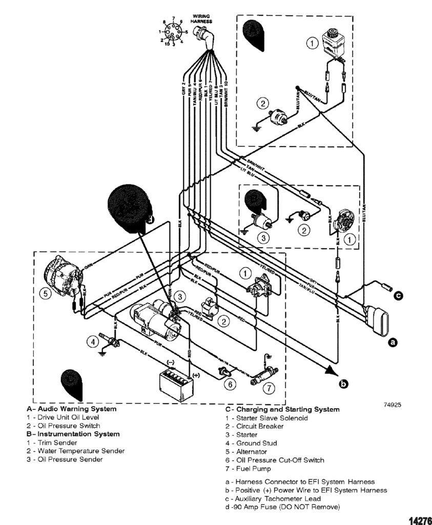Mercruiser 7 4 Alternator Wiring Diagram