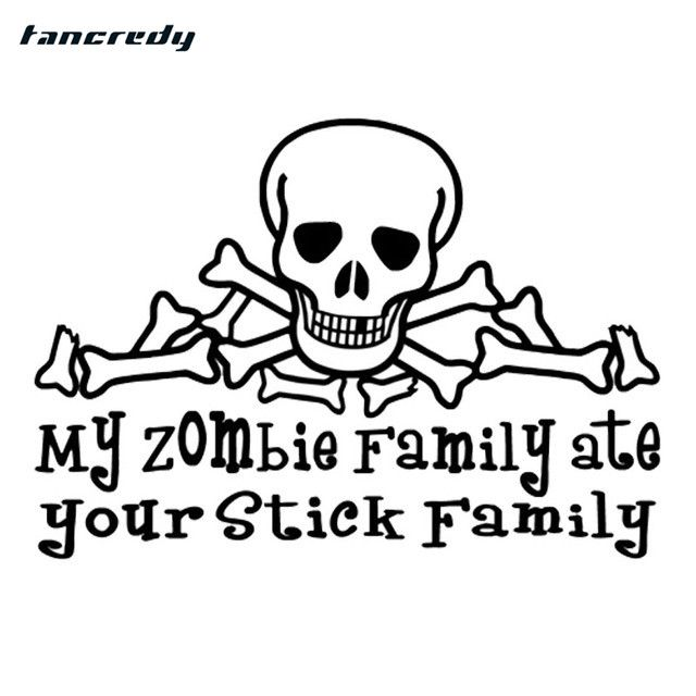 Fine My Zombie Family Ate Your Stick Family Vinyl By Auto Electrical Wiring Cloud Inklaidewilluminateatxorg