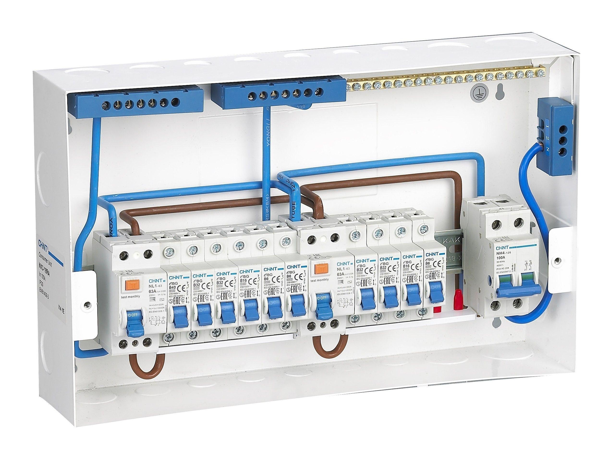 Split Load Consumer Unit Wiring Diagram