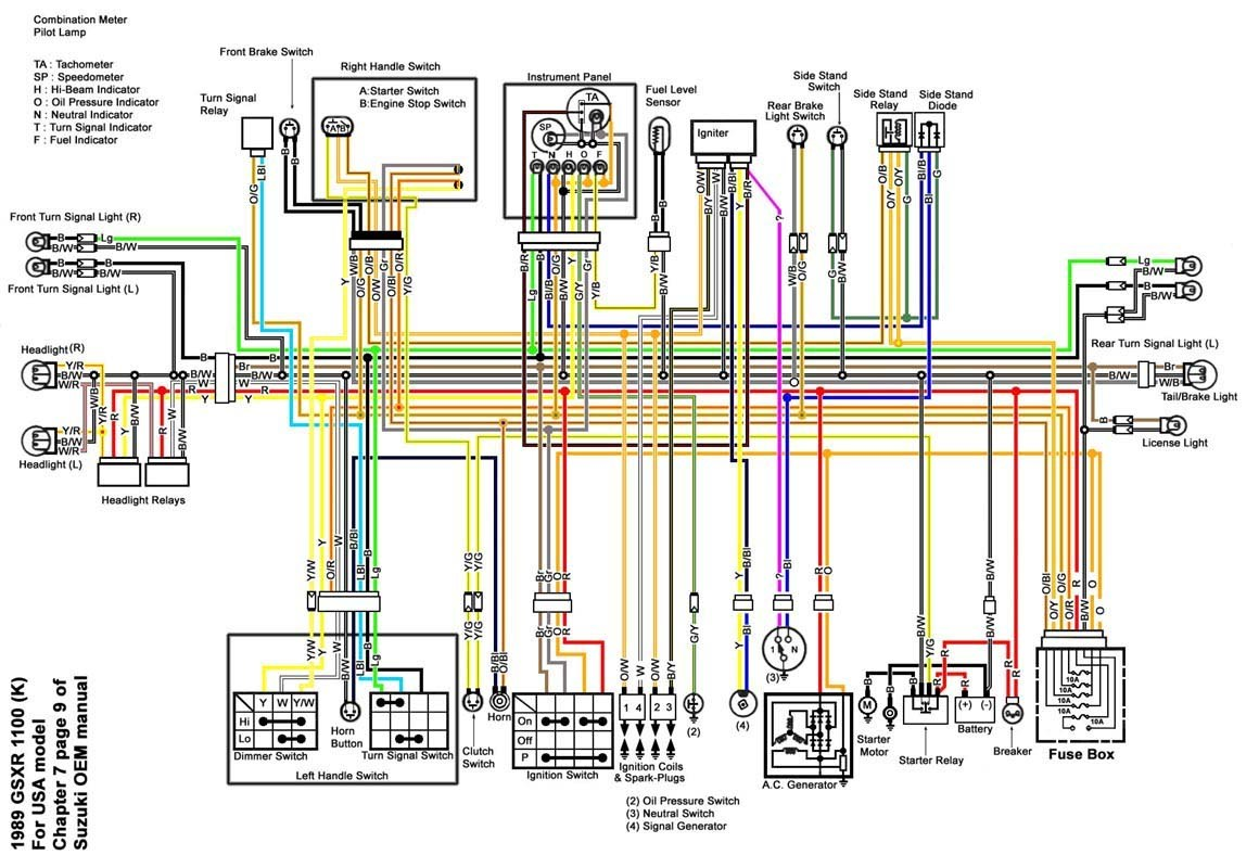 1996 Gsxr 1100 Wiring Diagram